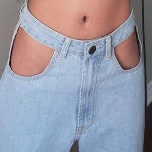Cutout Jeans